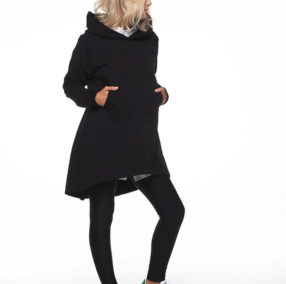 Asymmetric women's hoodie