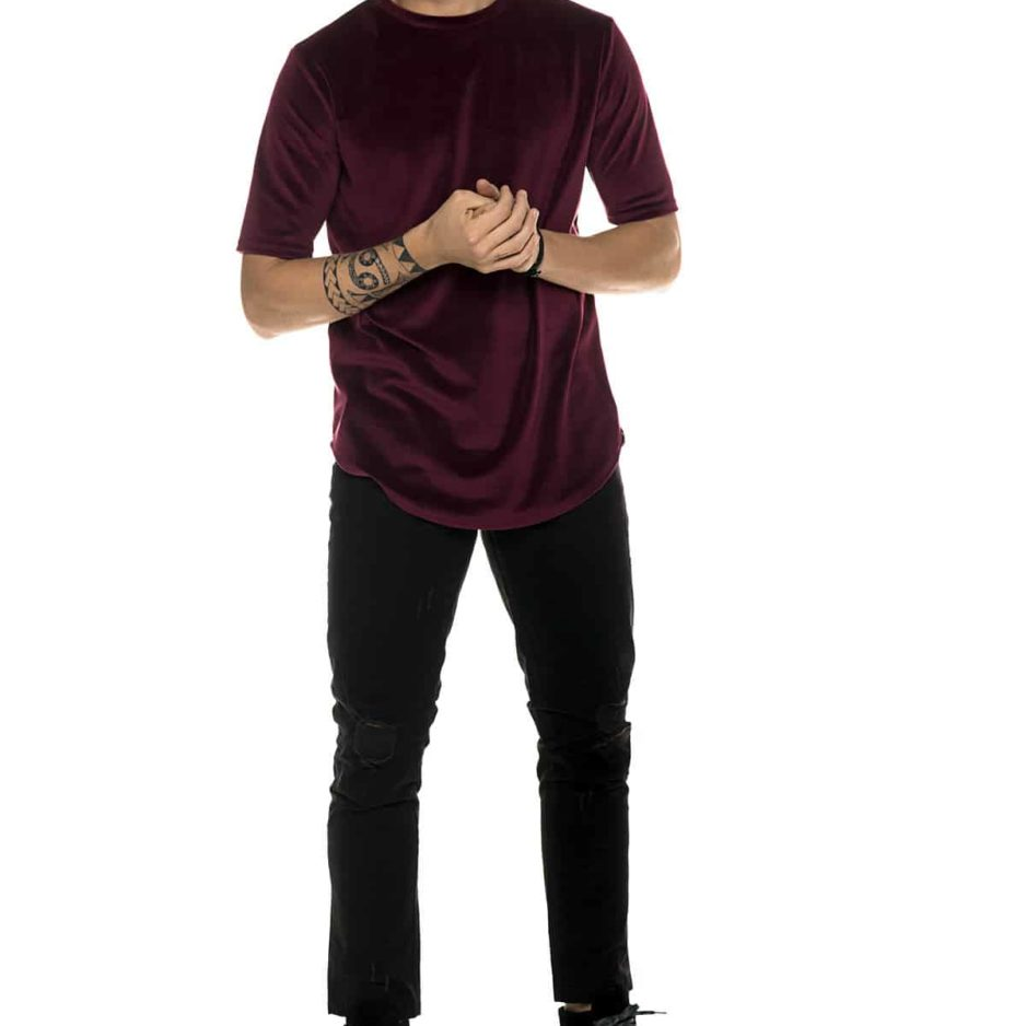 Bordo velvet t-shirt
