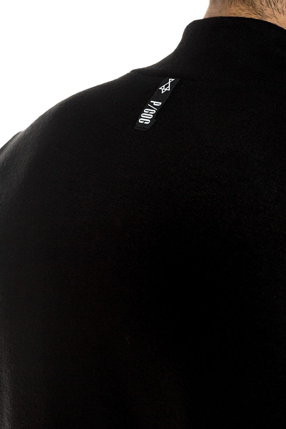 Black knitted turtleneck