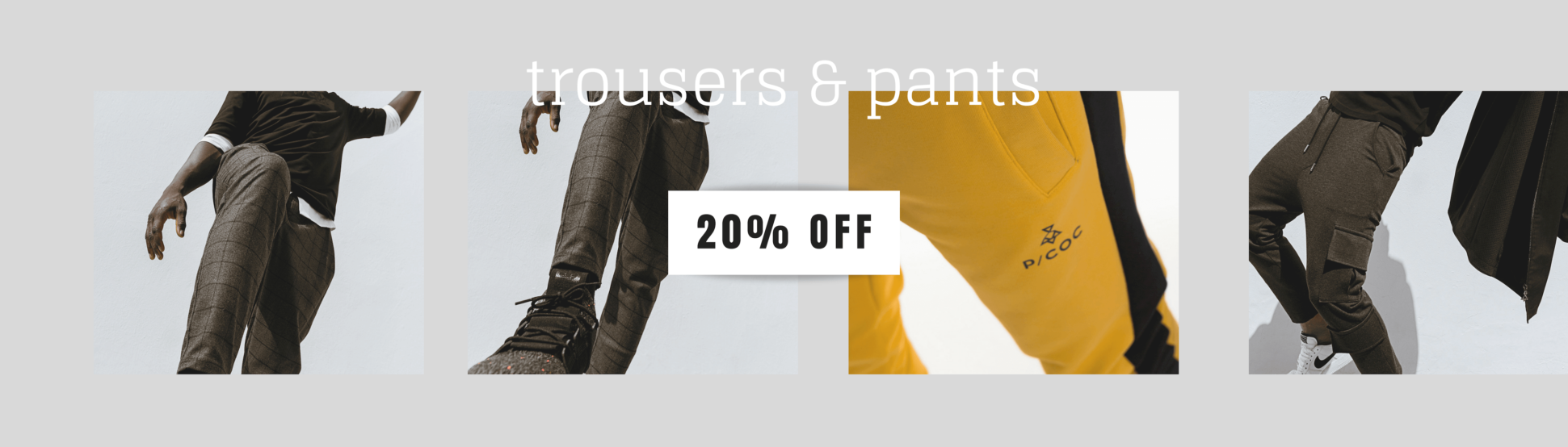 Pants & Sporty Trousers -20%