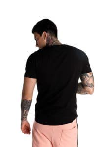 Μαύρο t-shirt με λογότυπο P/COC μπροστά