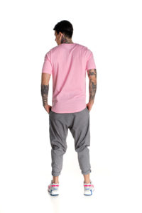 Pink P/COC t-shirt with logo in front