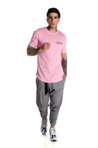 Ροζ  t-shirt με λογότυπο P/COC μπροστά