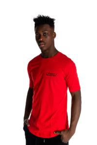 Κόκκινο t-shirt με λογότυπο P/COC μπροστά