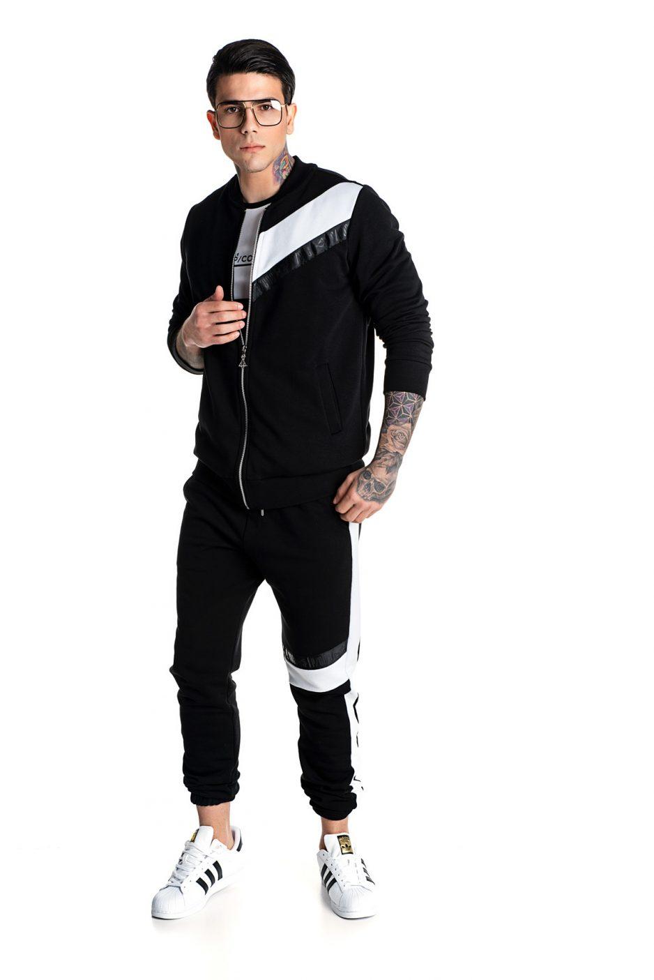 Black and white bomber jacket