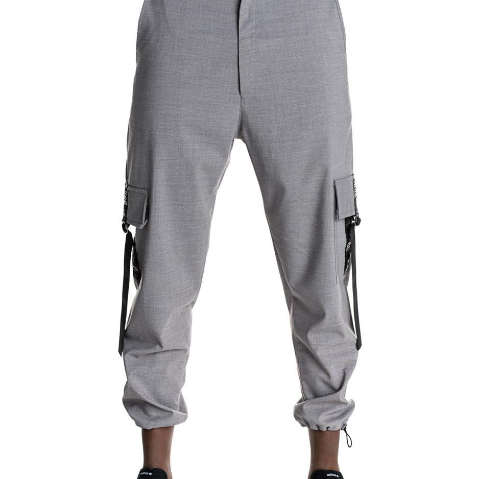 Γκρι βράκα παντελόνι P/COC με τσέπες