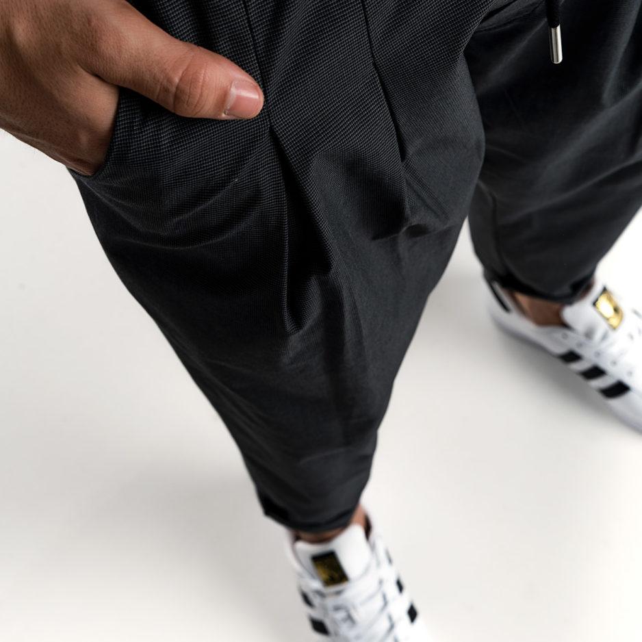 Μαύρη βράκα παντελόνι P/COC με τσέπες