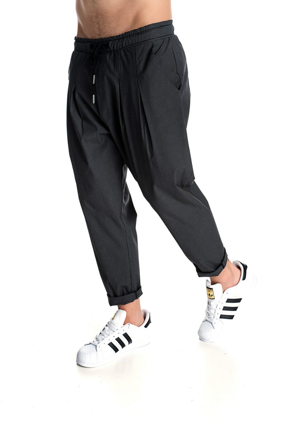 Black P/COC cool trousers with pockets