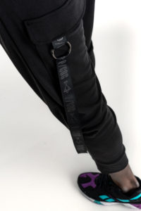 Black P/COC tracksuit with a pocket